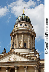 gendarmenmarkt, berlín, cuadrado, iglesia
