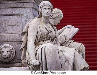 gendarmenmarkt, estatuas
