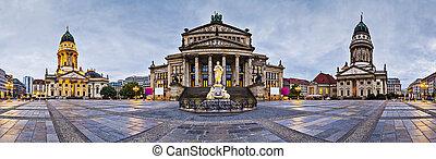 Berlin, Germany at historic Gendarmenmarkt square.