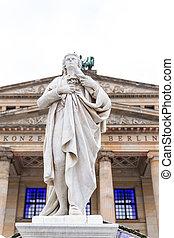 gendarmenmarkt, monumento, alemania, schiller, berlín