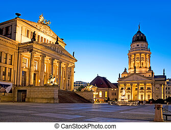 gendarmenmarkt square in berlin - Gendarmenmarkt square in...