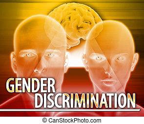 Gender discrimination Abstract concept digital illustration...
