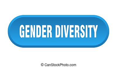 gender diversity button. rounded sign on white background