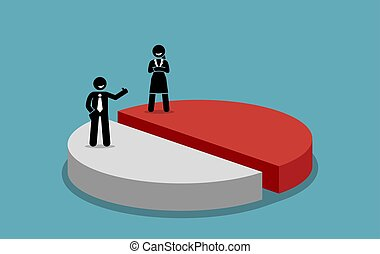 Gender equality and fairness. - Vector artwork concept ...
