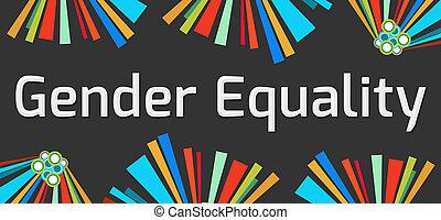 Gender Equality Dark Colorful Elements
