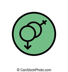 gender flat color icon