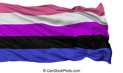 Gender Fluidity Pride Close Up Waving Flag - Gender Fluidity...