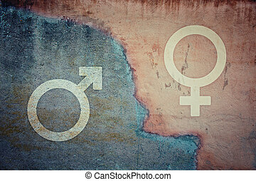 Gender gap and inequality concept