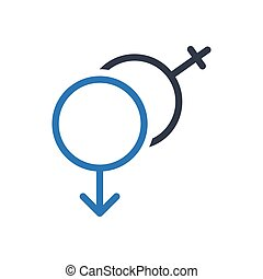 gender glyph color icon