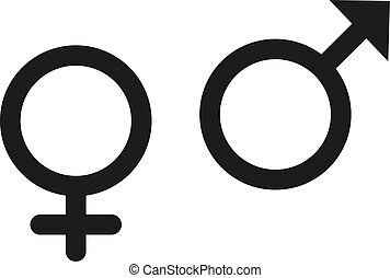 Gender Icon in trendy flat style isolated on grey background. Gender symbol for your web site design, logo, app, UI. Vector illustration