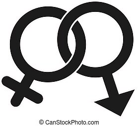 Gender Icon in trendy flat style isolated on white background. Award symbol for your web site design, logo, app, UI. Vector illustration