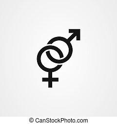 gender icon vector design