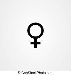 Gender icon vector design - female