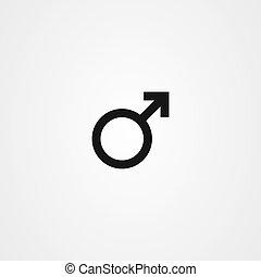 Gender icon vector - male symbol