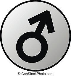 Gender male symbol button