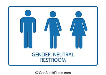 Gender Neutral Restroom Sign - Gender neutral restroom sign...