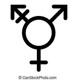 Gender or male and female icon flat sign symbols pink and blue vector glyph icon. Isolated on white background. Editable stroke. Vector