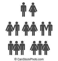 Gender symbol 2 - Gender symbol icons 2. Graphic vector...