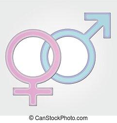 Gender symbol- girl and boy