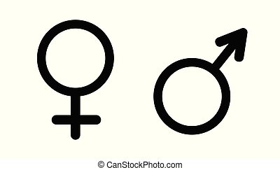 Gender symbol vector. Male female vector icon illustration