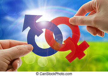 Gender symbols - Male and female gender symbols