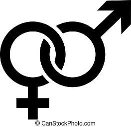 Gender symbols male female