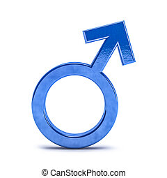Gender symbols of man. 3D