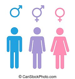 Gender symbols set - Set of gender symbols with stylized ...