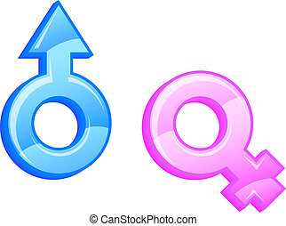 Gender symbols. Vector illustration.