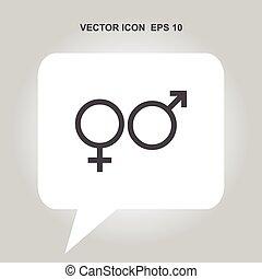 gender vector icon