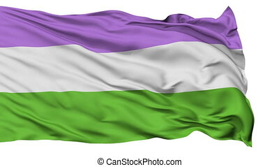 Genderqueer Pride Close Up Waving Flag
