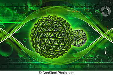 Gene - Digital illustration of gene in colour background...