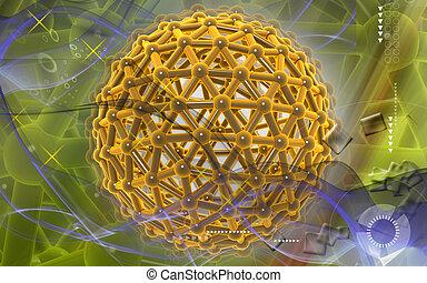 Gene Digital illustration of gene in colour background