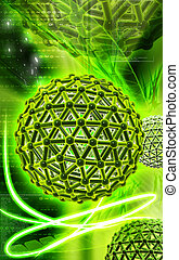 Gene  - Digital illustration of gene in colour background