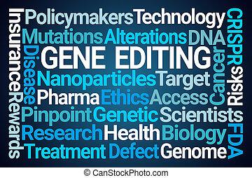 Gene Editing Word Cloud