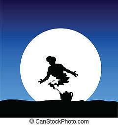 gene on the moon