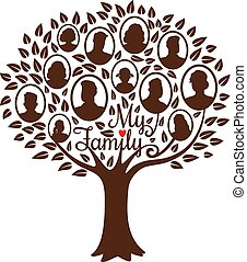 genealogical, arbre, famille