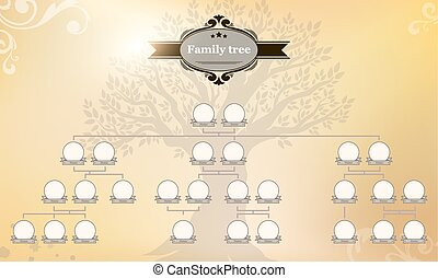 genealogical, arbre, ton, family.