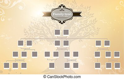 genealogical, arbre, ton, family.
