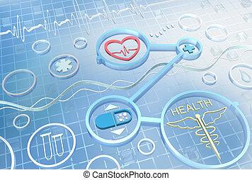 geneeskunde, -, abstract, achtergrond