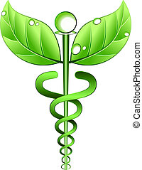 geneeskunde, alternatief, vector, symbool