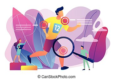 geneeskunde, concept, illustration., vector, sporten