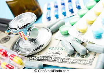 geneeskunde, en, geld