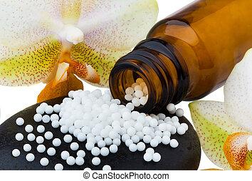 geneeskunde, globules, alternatief, homeopathy.