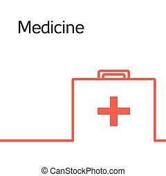 geneeskunde, pictogram, concept, logo