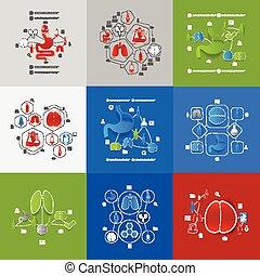 geneeskunde, sticker, infographic