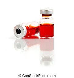 geneeskunde, witte , vrijstaand, achtergrond, vials