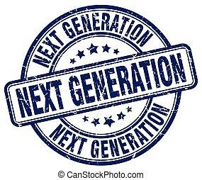 generación, azul, luego, grunge, estampilla