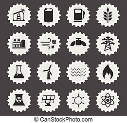 generación, conjunto, potencia, icono