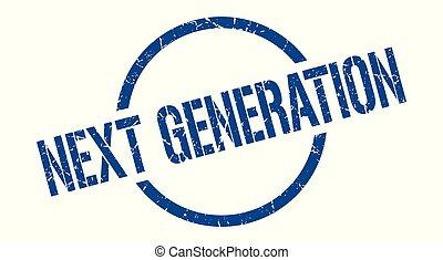generación, estampilla, luego